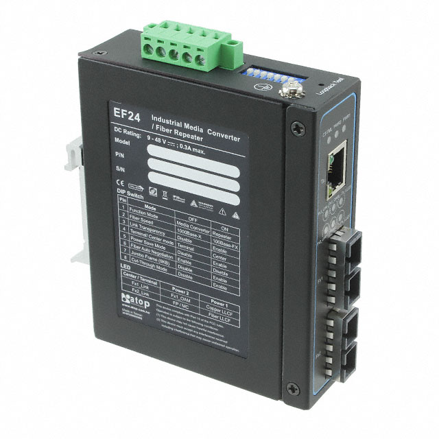 Медиаконверторы INDUSTRIAL GIGABIT ETHERNET-TO-F Фото 1.